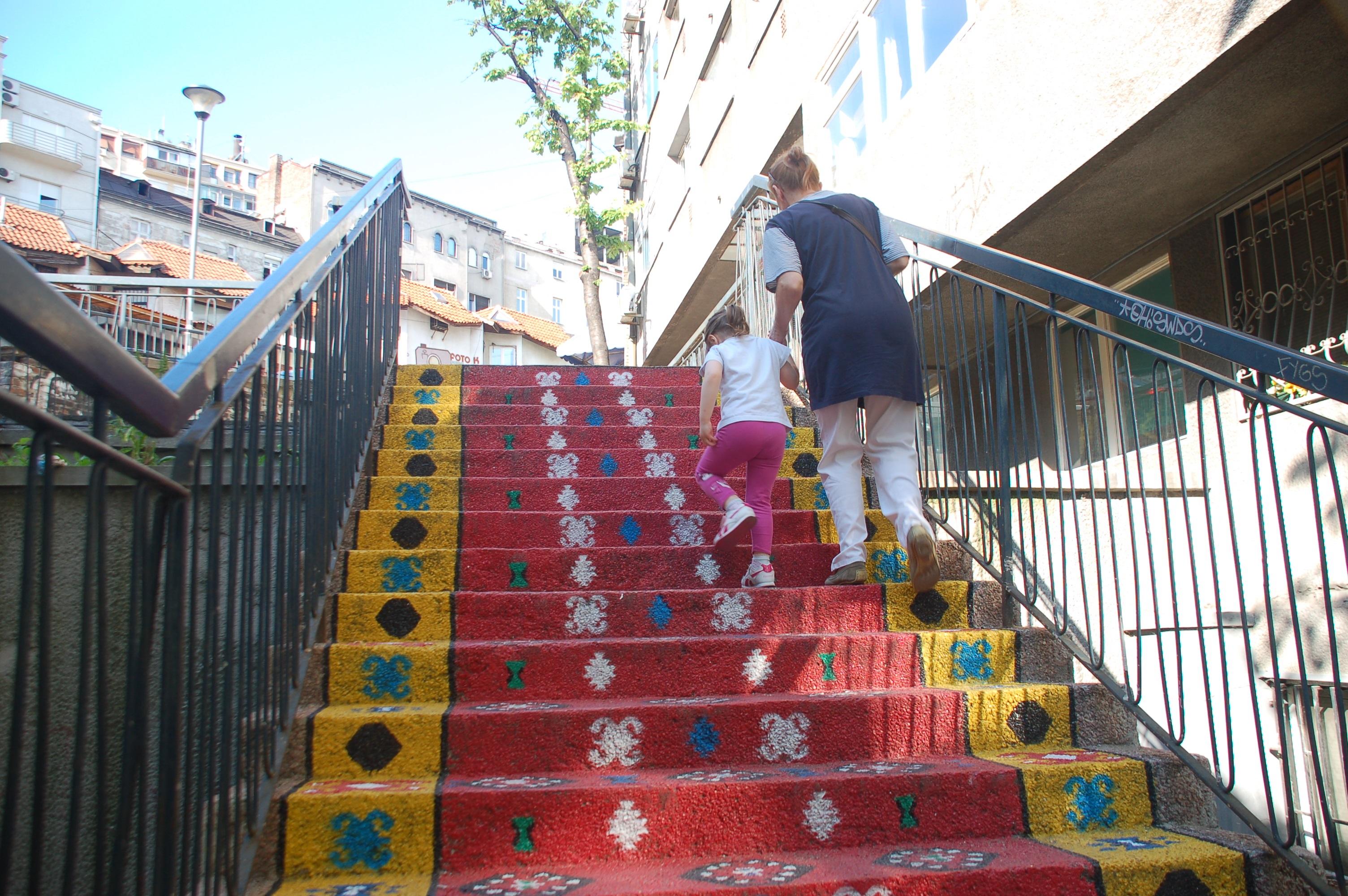 Treppe in Belgrad_Katrin Lechler