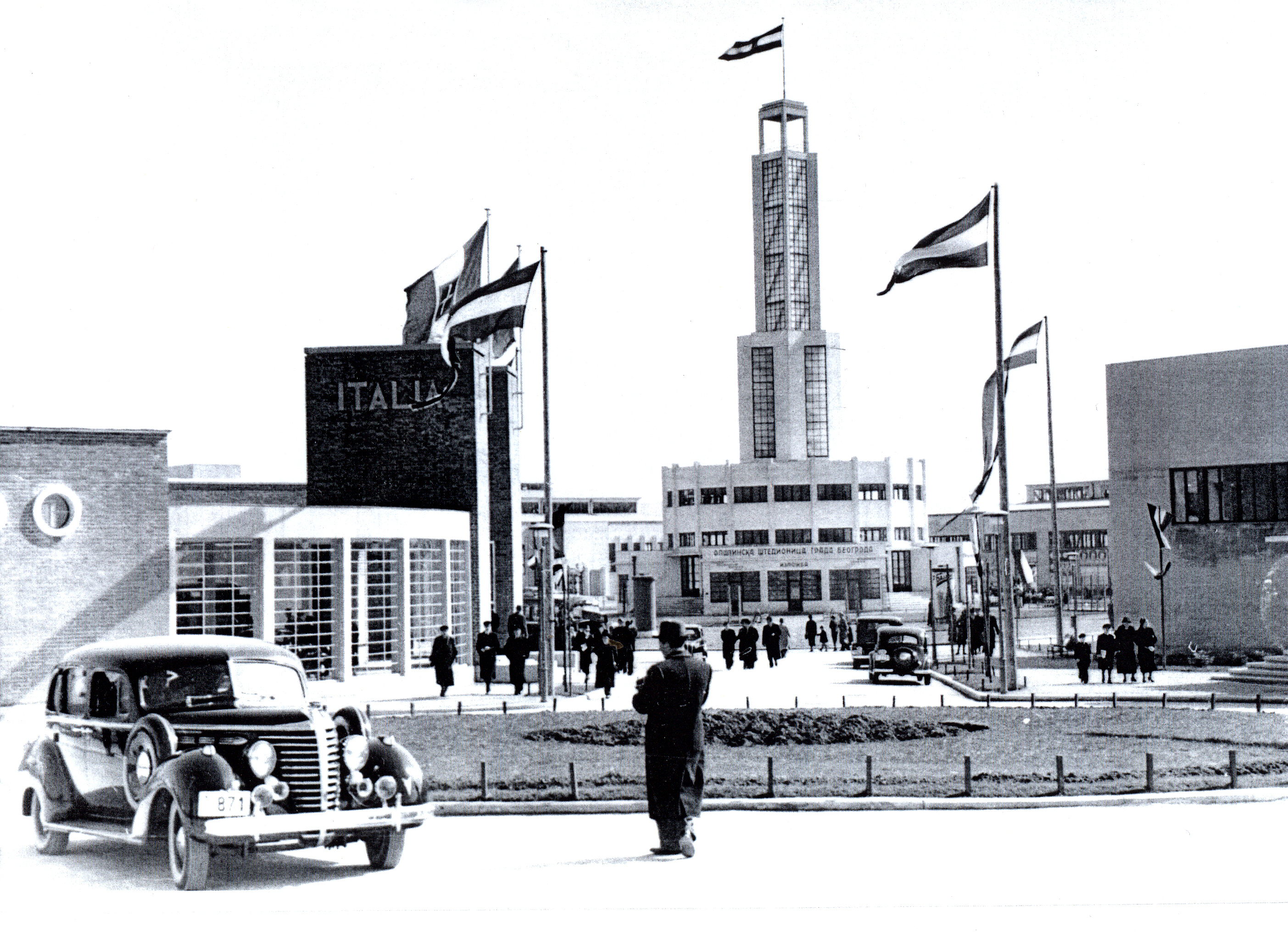 Italian pavilion and tower
